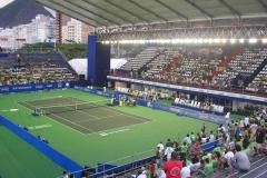 Visão interna arena campeonato de tênis - Copacabana
