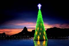 Projeto árvore de natal da lagoa